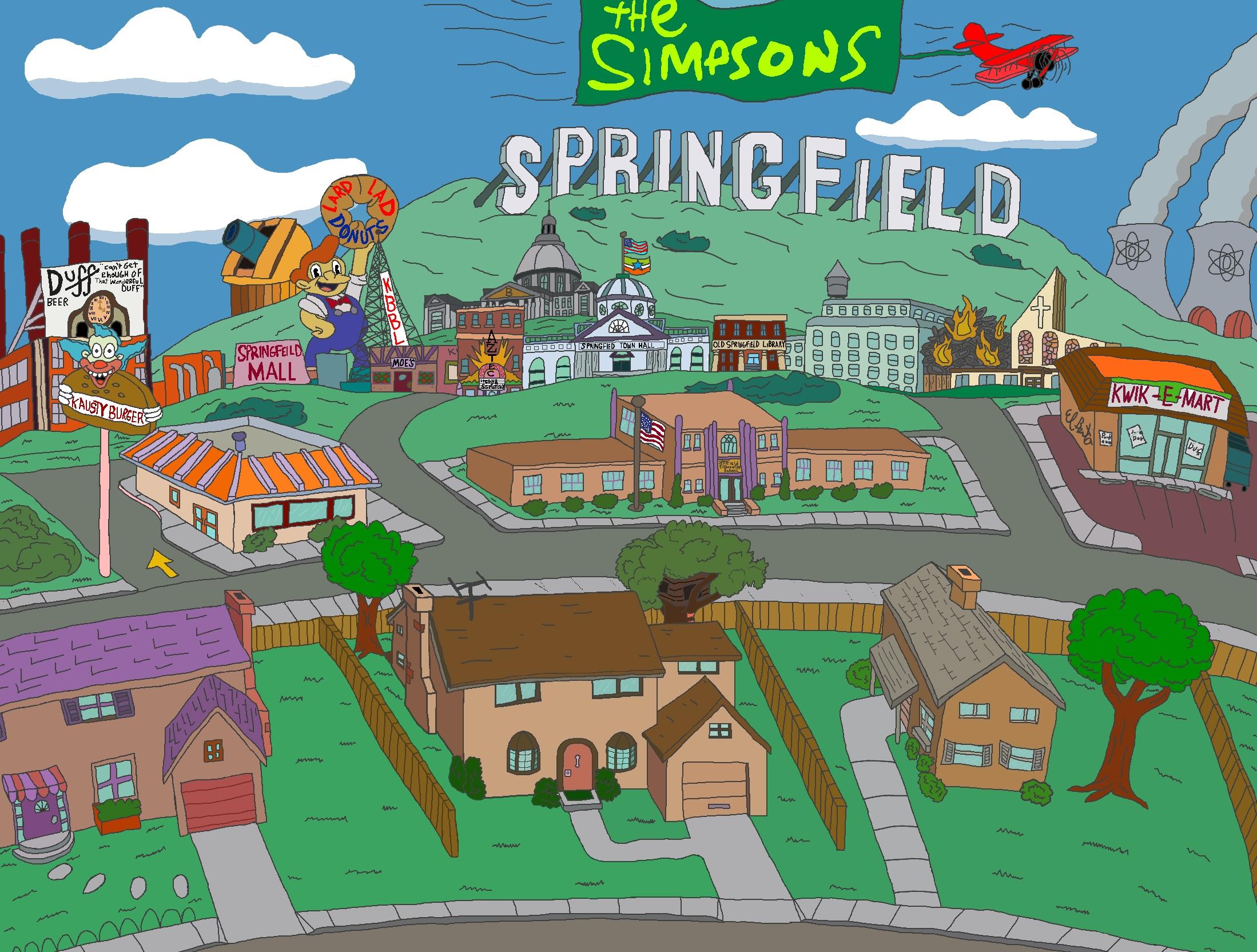 simpsons springfield