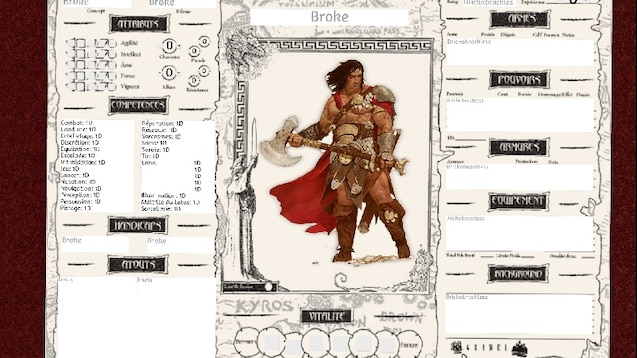 barbarian character sheet steam workshop :: beasts & barbarians scripted character