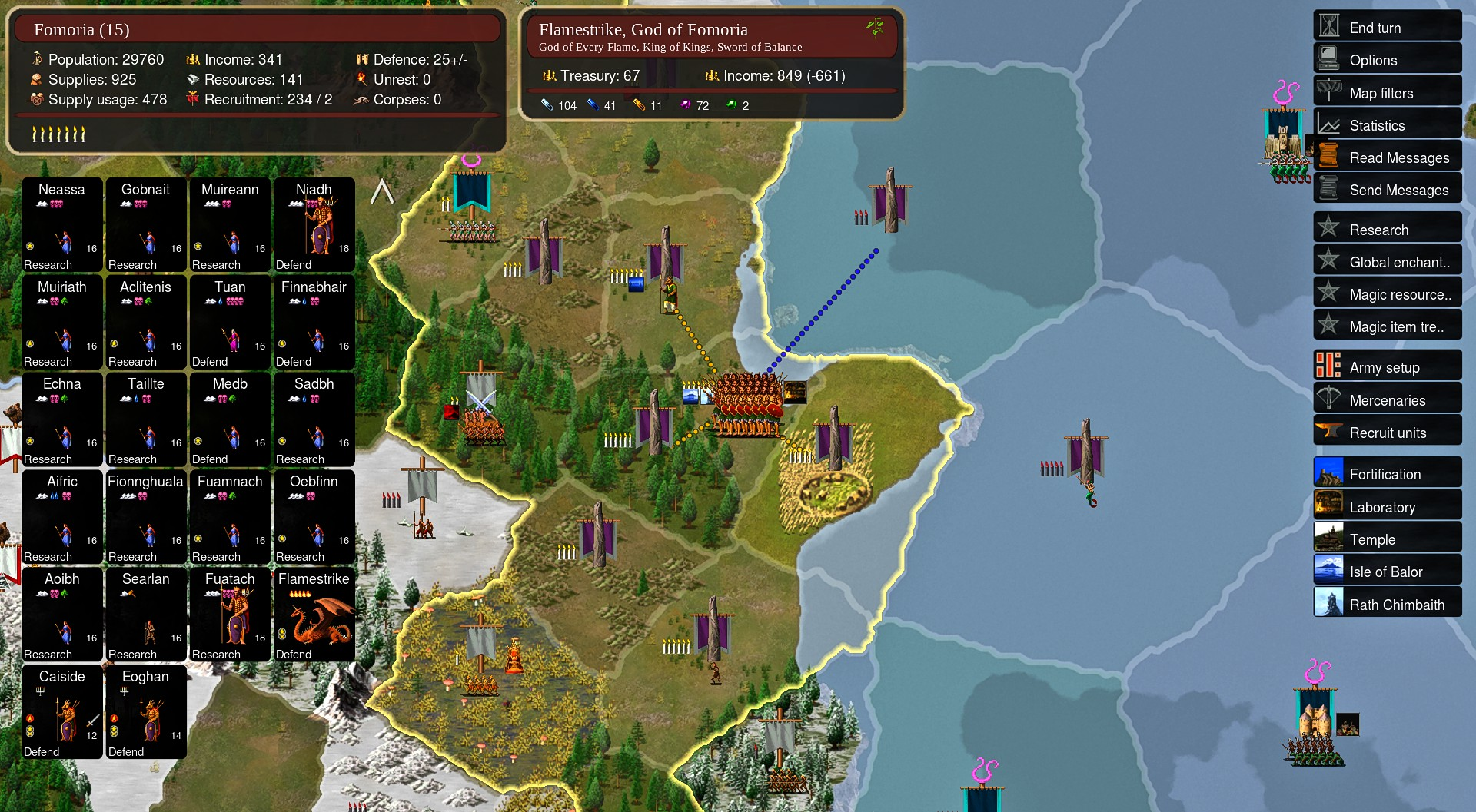 Screenshot of Dominion 5: Warriors of the Faith gameplay