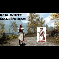 Real White Mage Robes (Female)画像