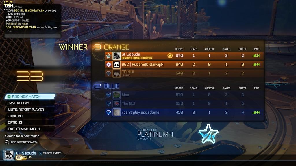 matchmaking Rocket League