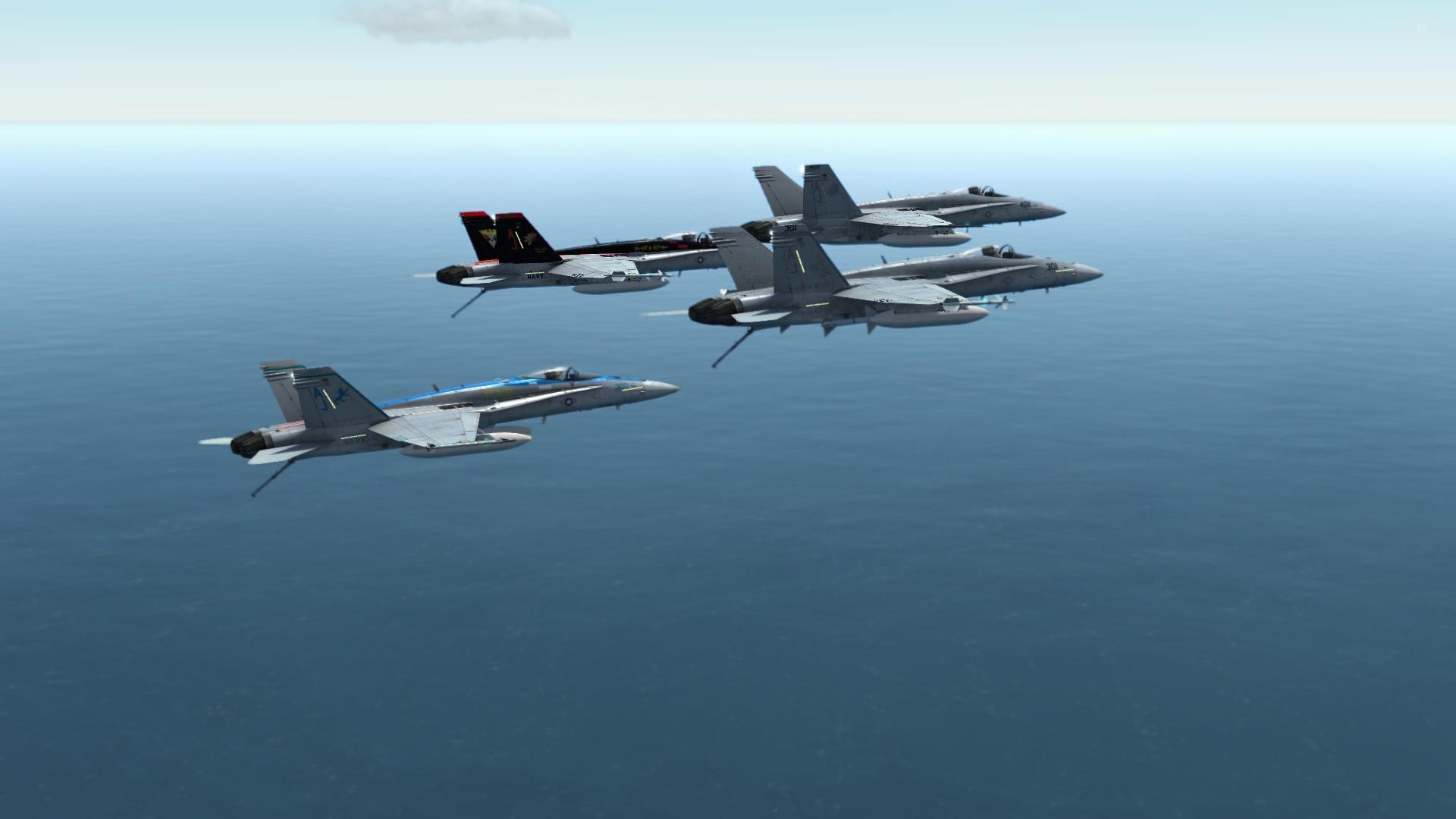 Steam Community :: :: CVW-8 F/A-18s in flight