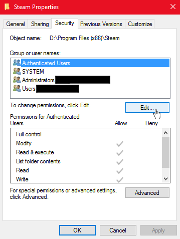 Steam Community :: Guide :: How To Fix Folder Permission