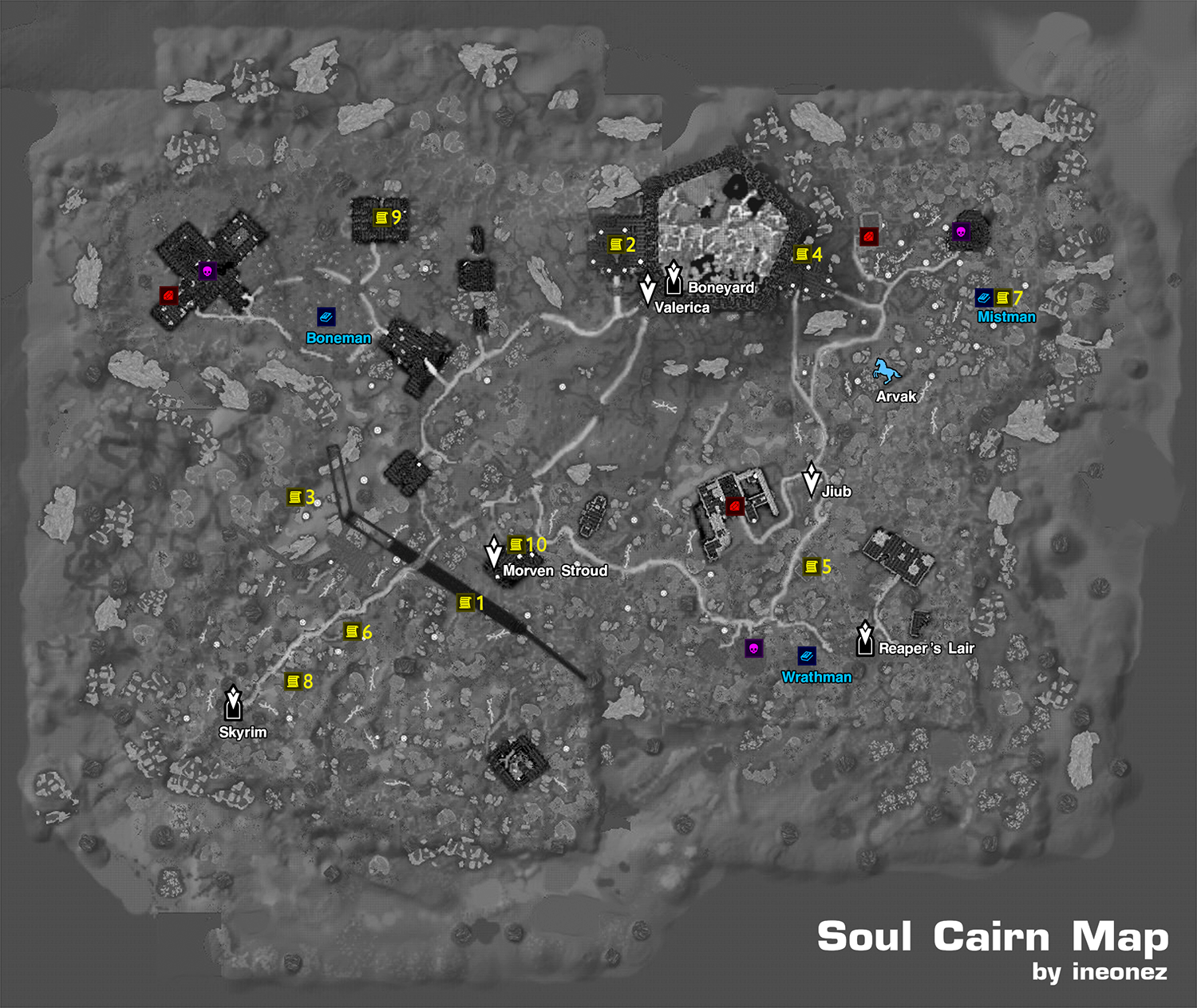 photo relating to Printable Skyrim Map identified as Steam Regional :: Marketing consultant :: SOUL CAIRN map data [ DawnGuard ]