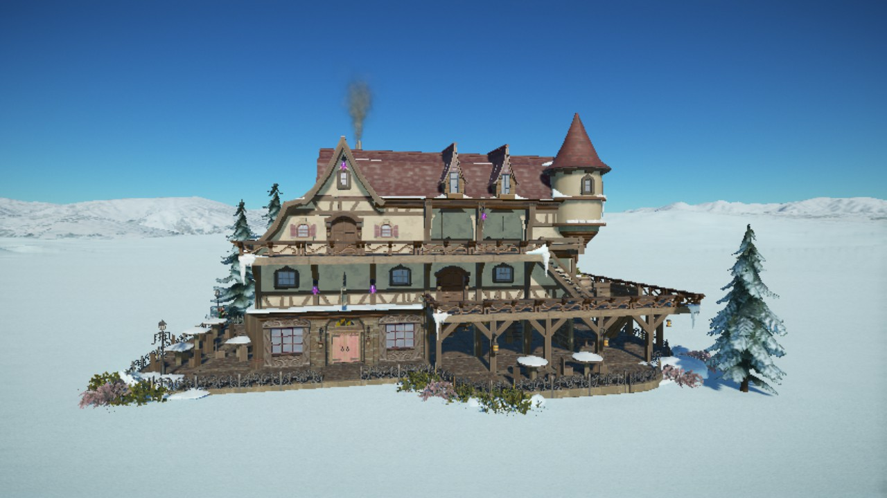 Winter Resort Lodge