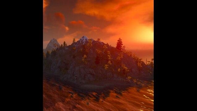 Steam Workshop Witcher 3 Skellige The Pali Gap Coast Sunset