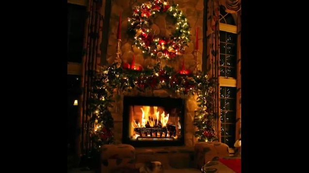 Classic Christmas Music with Fireplace