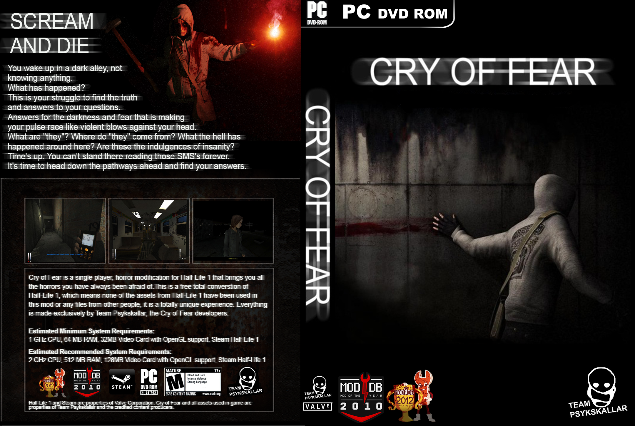 Steam Community :: :: Cry of Fear DVD Box Cover