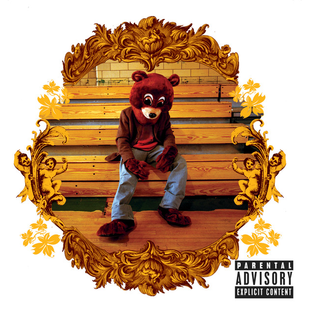 Kanye west signed the college dropout album cover w/vinyl #ac56582.