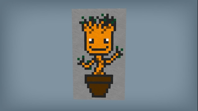 Steam Workshop Pixel Art Mini Groot