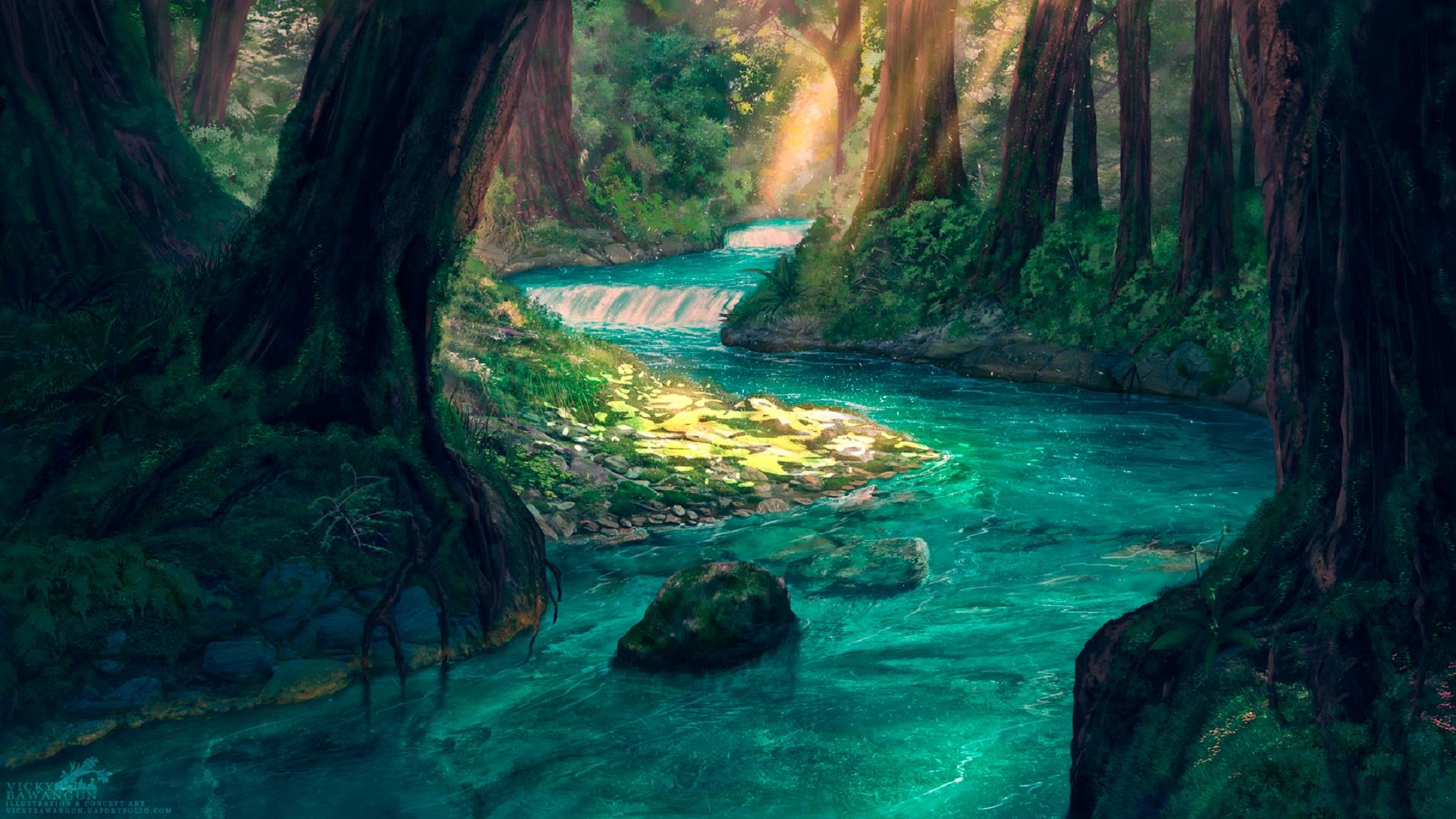 Forest River Wallpaper Engine