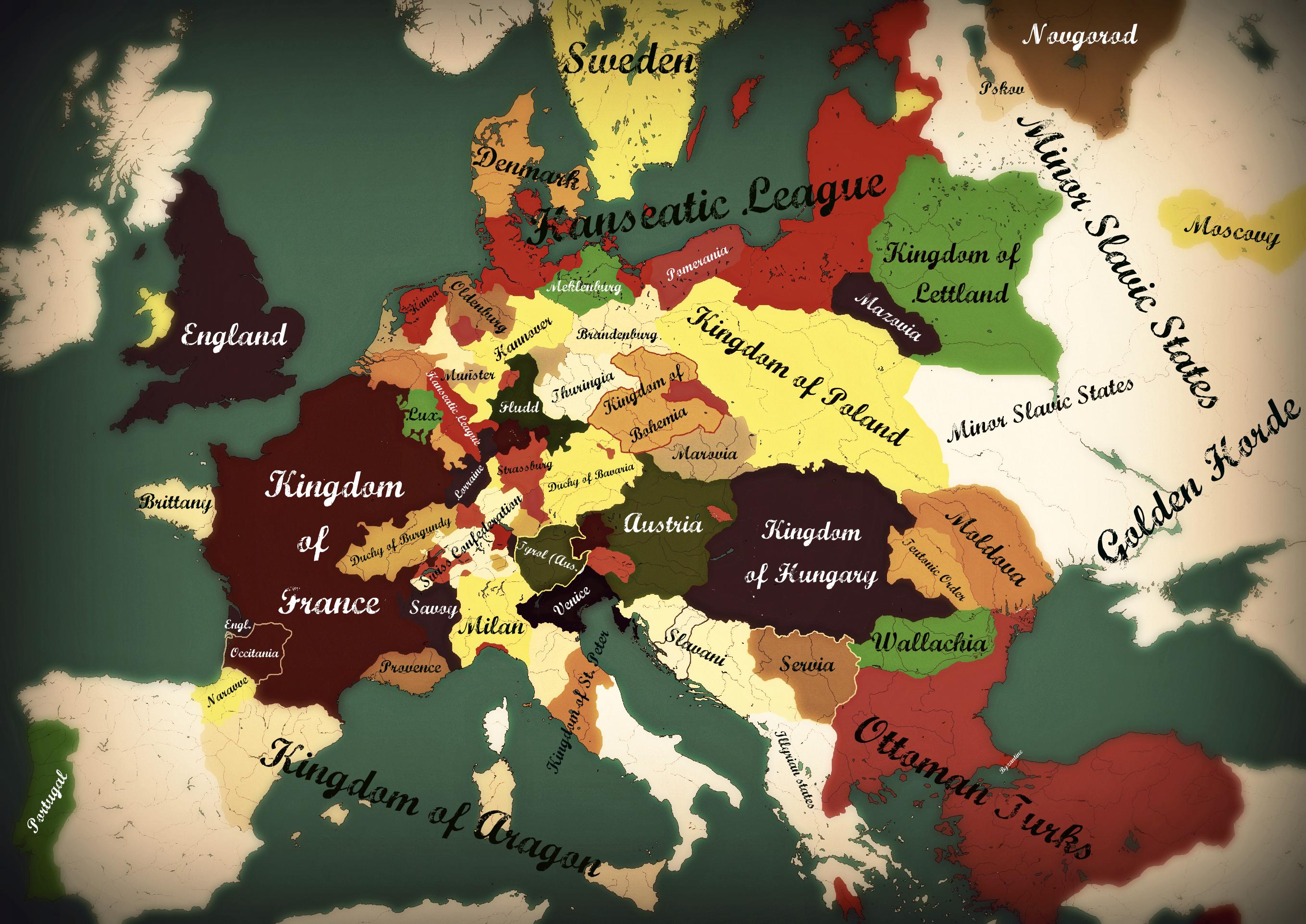 Map Europe 1400 Casami