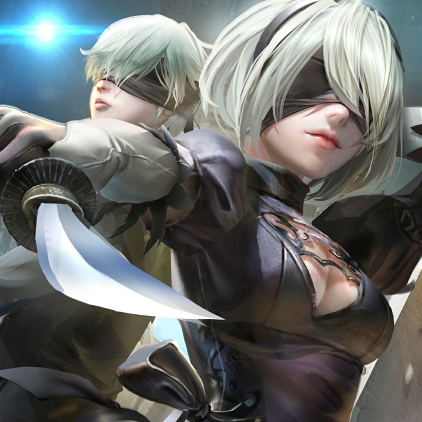 2B And 9S NieR: Automata Wallpaper Engine