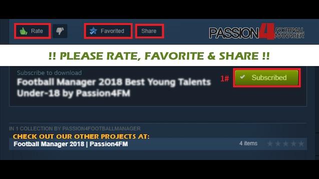 Steam Workshop :: FM18 BEST WONDERKIDS - 1000+ U21 TALENTS