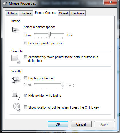 windows mouse settings for gaming