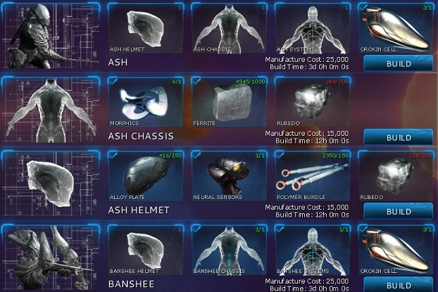 Steam Community :: Guide :: Warframe Crafting: Where and How to?