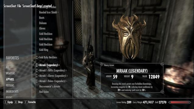 Steam Workshop :: (Heavy Armor) Mora's Gift and Miraak Loot