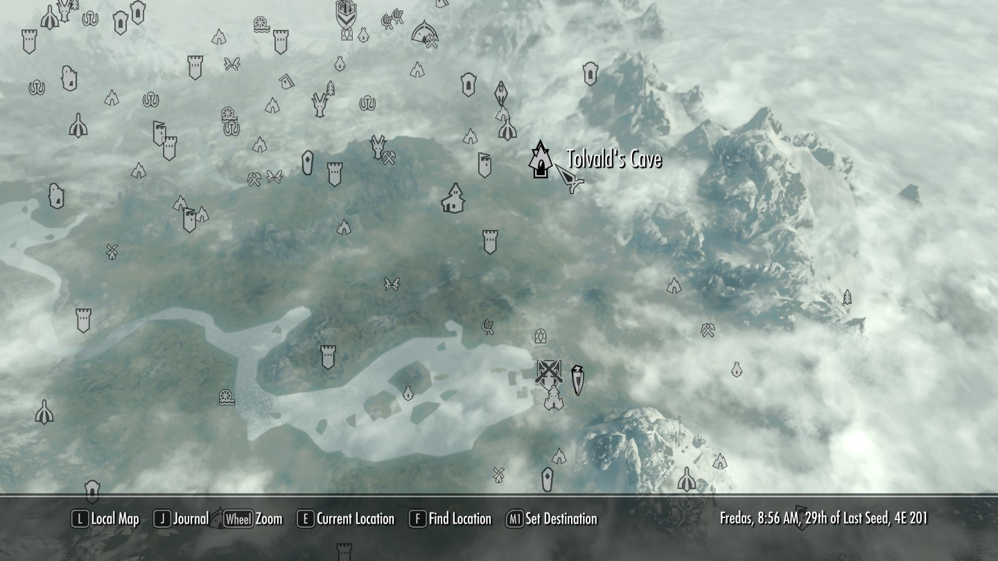 Skyrim ebony mine location