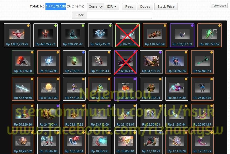 steam community screenshot for sell all invebt dota 2