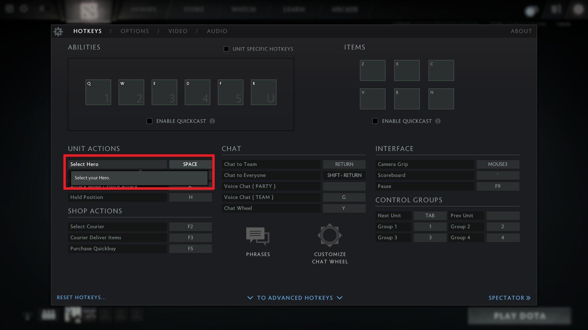 Steam Community :: Guide :: Centering Camera on Hero