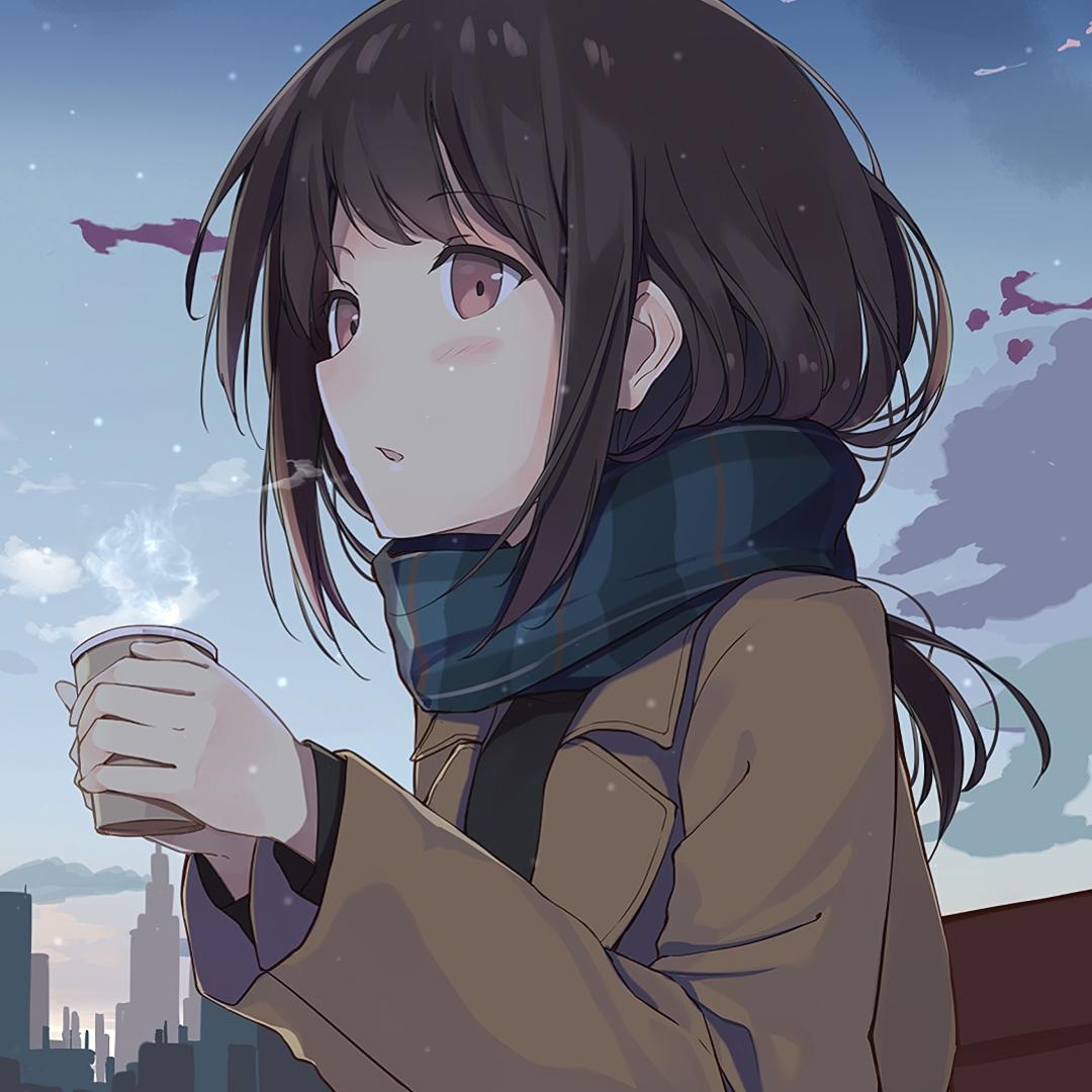 Steam Workshop::Anime girl drinking coffee