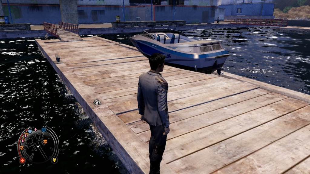 How to dock a boat in sleeping dogs