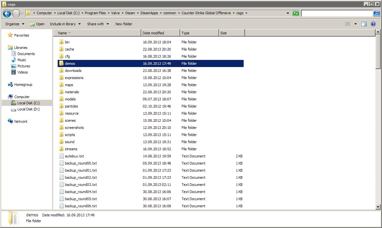 Cs go matchmaking demos folder