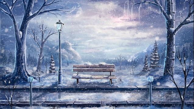 Steam Workshop Anime Winter Scenery Wallpaper
