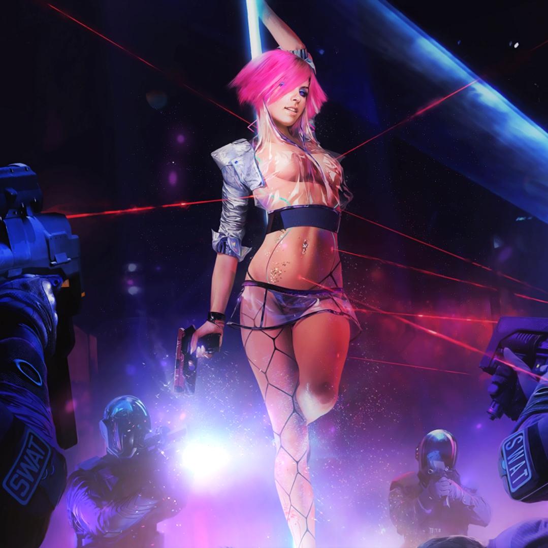 Cyberpunk 2077 Cyborg Stripper