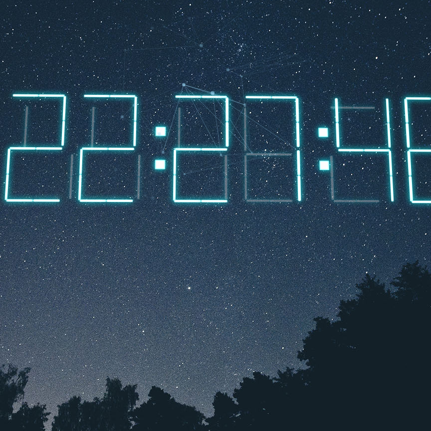 Time lapse + 3D Digital Clock