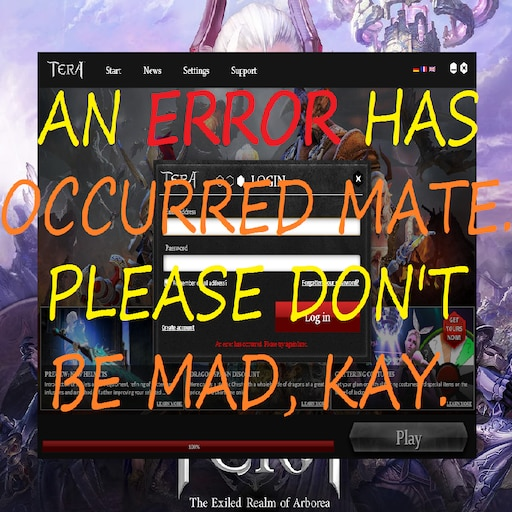 Steam Community :: Guide :: TERA launcher issues made simple - error