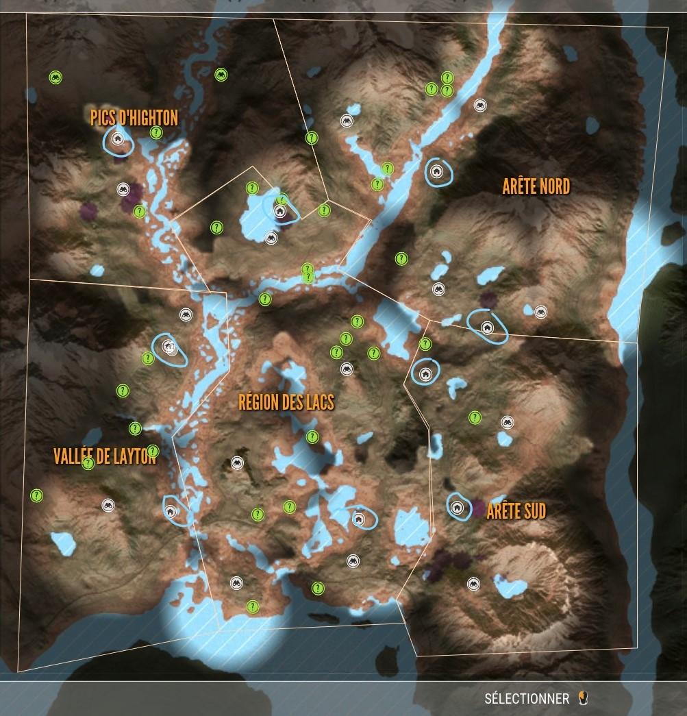 carte the hunter call of the wild Steam Community :: Guide :: Aire de repos Layton Lake