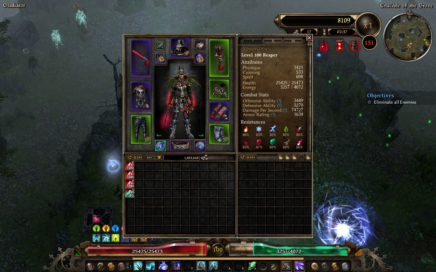 grim dawn how to change active quest