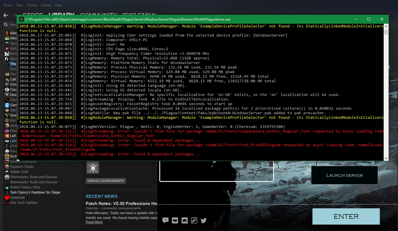 Steam Community :: Guide :: The Black Death: Server Setup & Commands