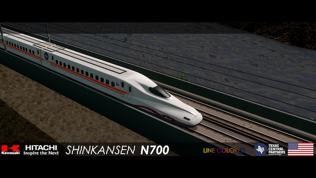 Steam Workshop :: Shinkansen N700 Texas Central (6 Cars)