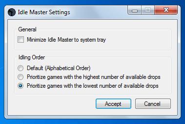 Выбиваем карточки steam с помощью idle master