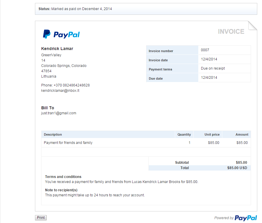 can you chargeback friends and family paypal