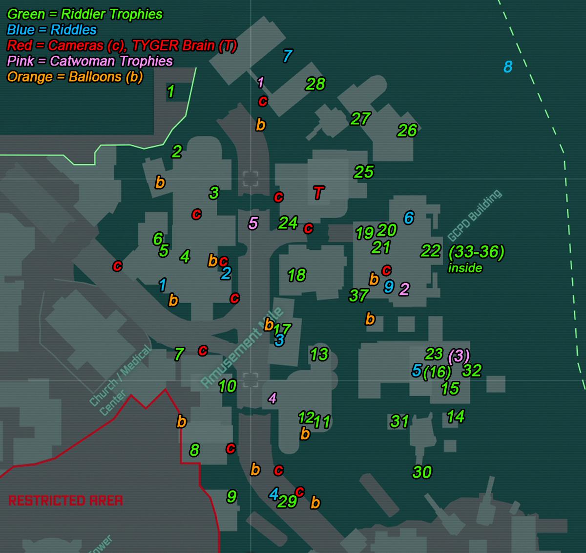 steam community guide the riddler's secrets map for arkham city