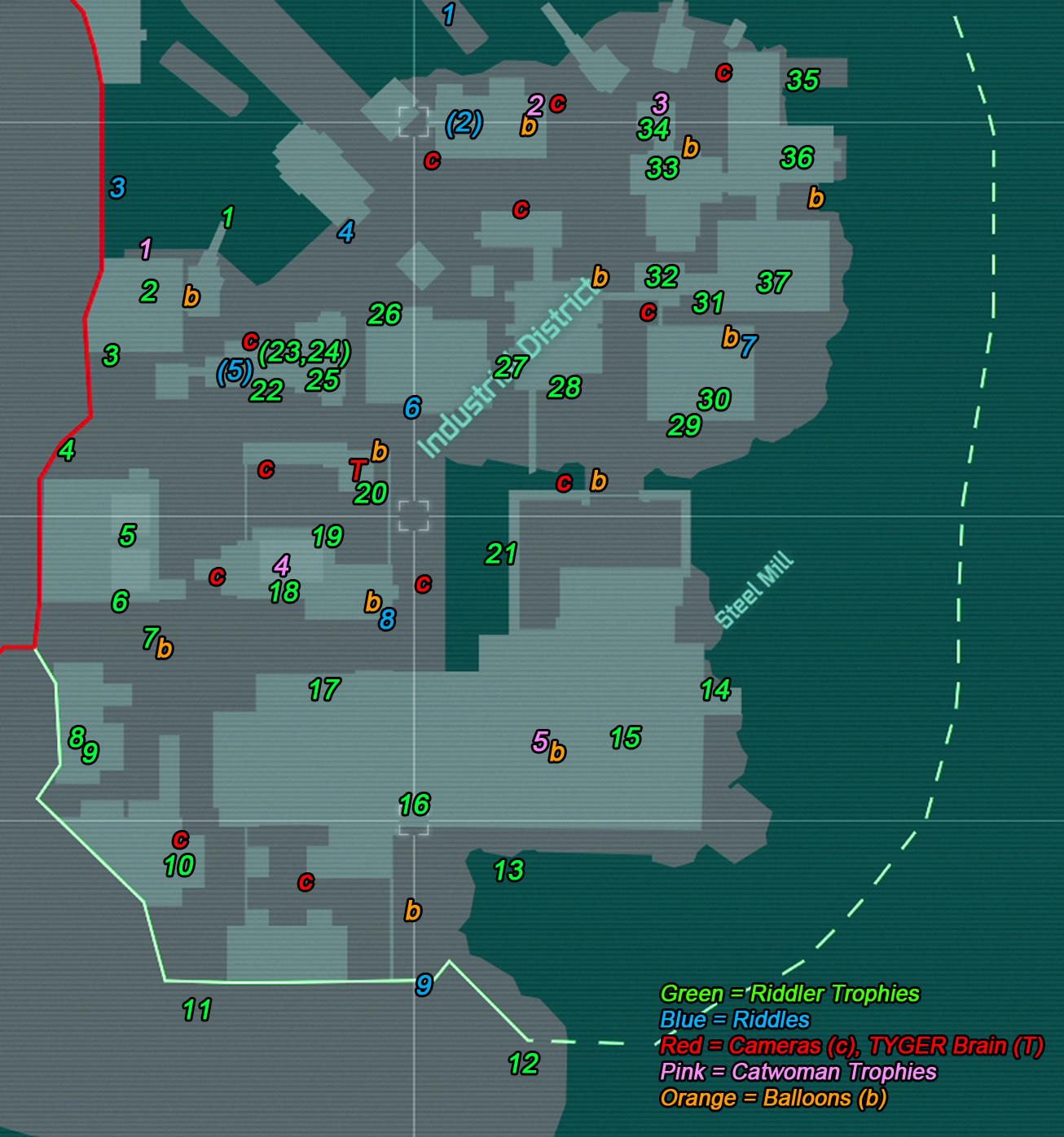 Steam Community :: Guide :: The Riddler's Secrets Map for Arkham City