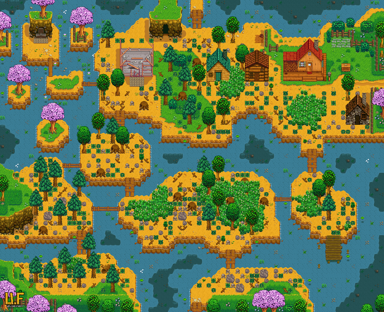 Steam Community :: Guide :: Default Multiplayer Farm Layouts