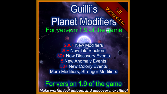 Guilli's Planet Modifiers for 1 9 - Skymods