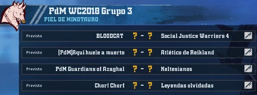 WC2018 - Grupo 3 / Jornada 1 - hasta el domingo 15 de abril AA01117CD7CA118195F07105DB39021E405FCEAE
