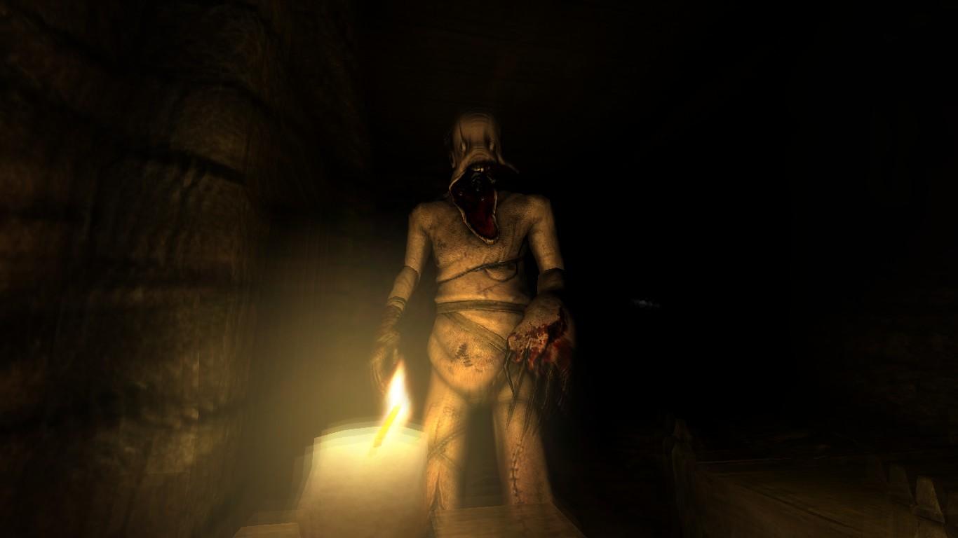 A dark hiding place