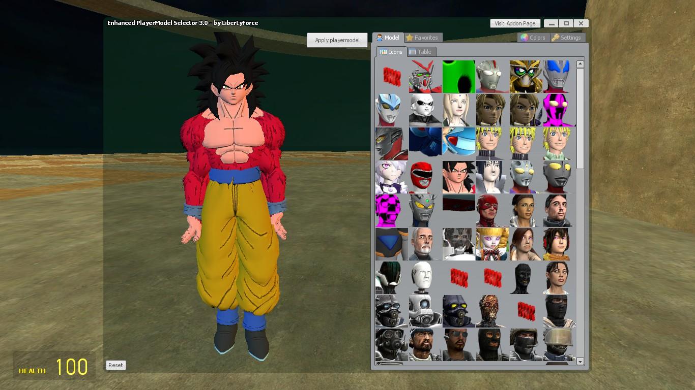 & Steam Workshop :: Goku (SSJ4) Playermodel