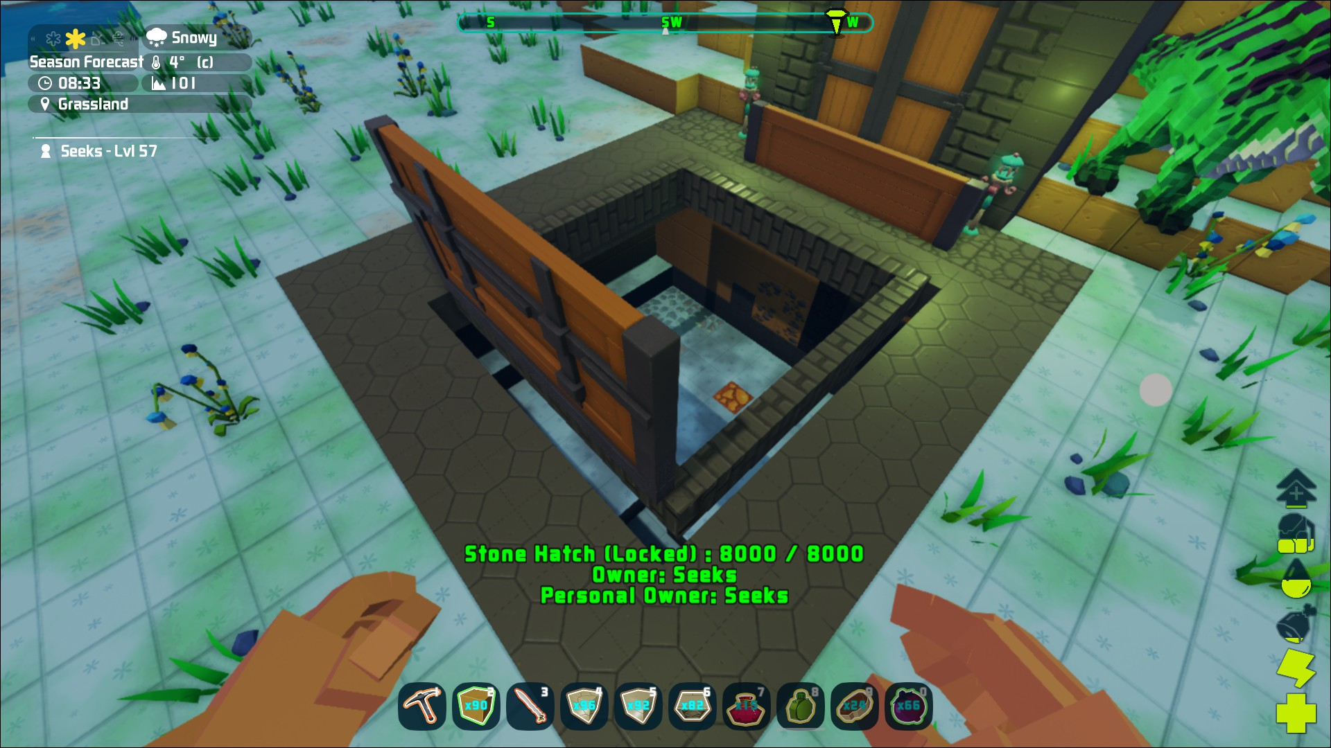 How to place a stone hatch? :: PixARK Thảo luận chung