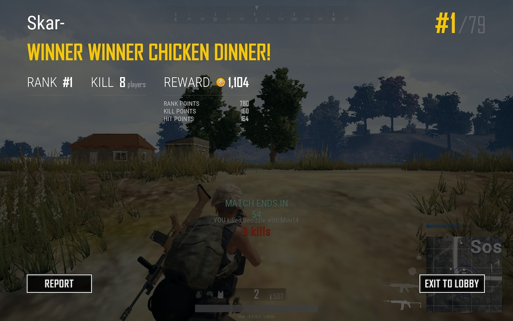 Pubg Winner Winner Chicken Dinner Screenshot - Hack Pubg