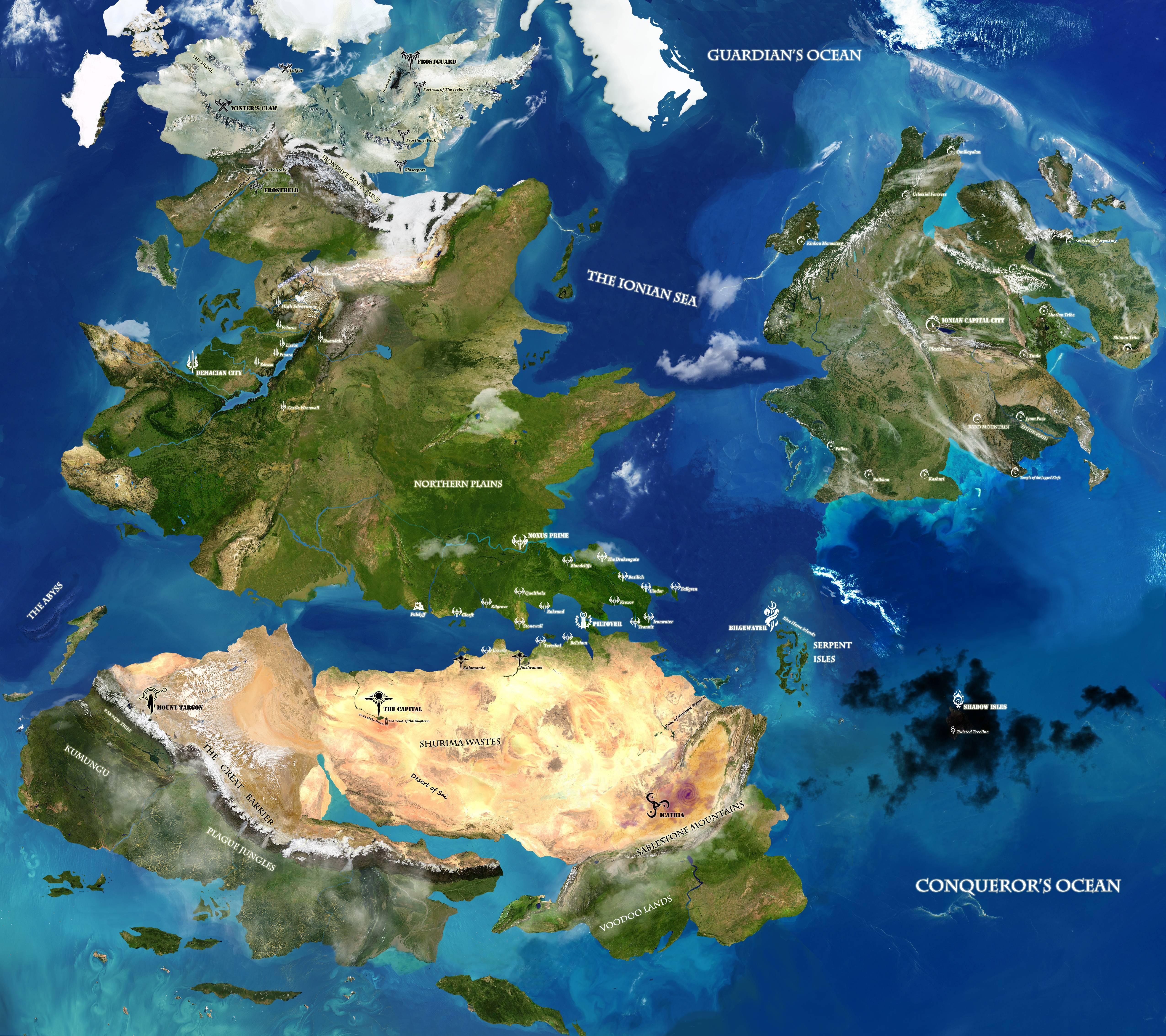 League Of Legends World Map Steam Workshop::Runeterra (From League of Legends)