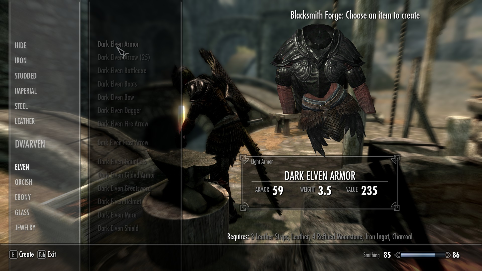 skyrim elven armor mod
