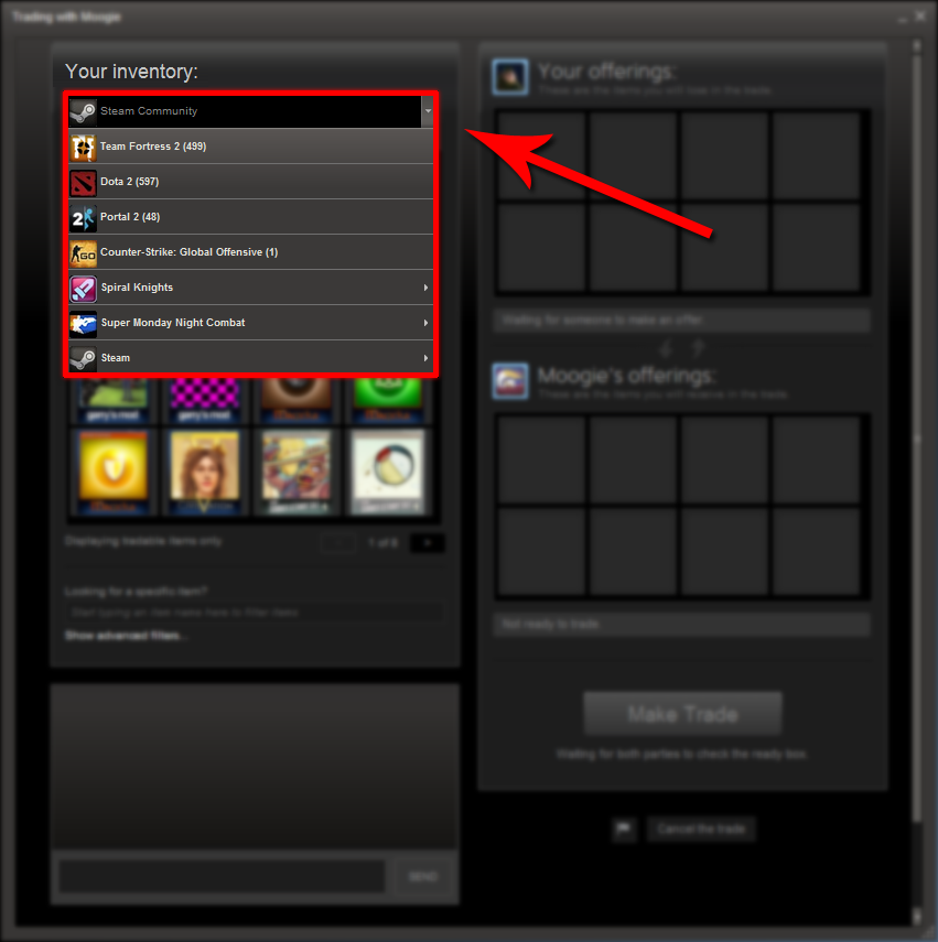 how to delete items from steam inventory