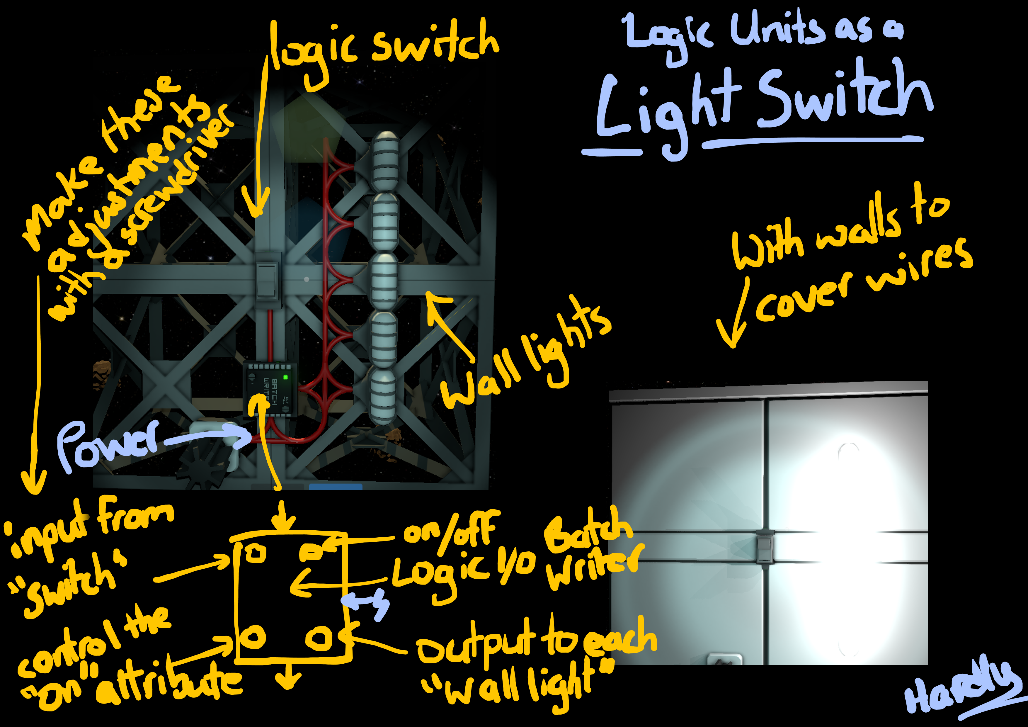 Steam Community Guide Slightly Less Simple Logic Units Circuit A Nice Light Switch To Control The Lights In Room